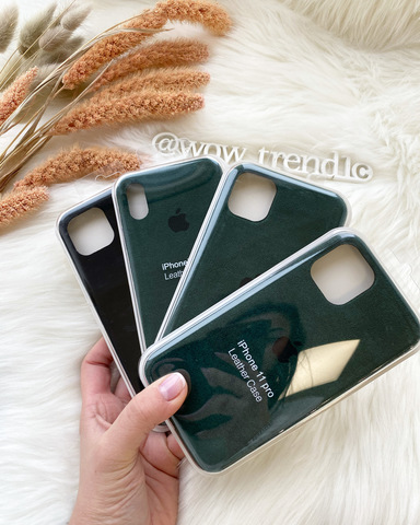 Чехол iPhone 11 Alcantara case full /green/