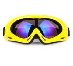 Горнолыжная маска №8 желтая