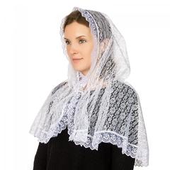 Женская накидка-капор в церковь