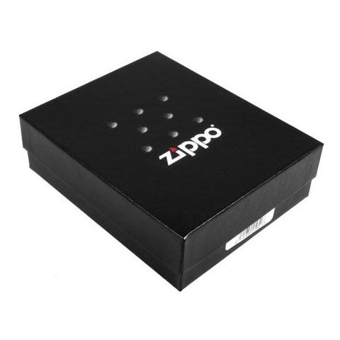 Зажигалка Zippo Logo с покрытием Satin Chrome™, латунь/сталь, серебристая, матовая, 36x12x56123