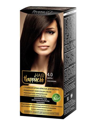 Белита-М Hair Happiness Крем-краска для волос аммиачная №4 шатен