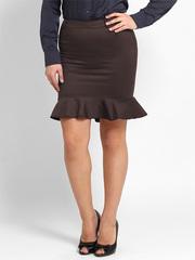 2386-1 юбка коричневая