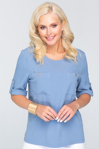 <p>Хит! Хит! Хит! Стильный блузон - это сочетание простоты фасона с интересными деталями, которые делают модель уникальной. В первую очередь&nbsp; - это накладные карманы.</p>
