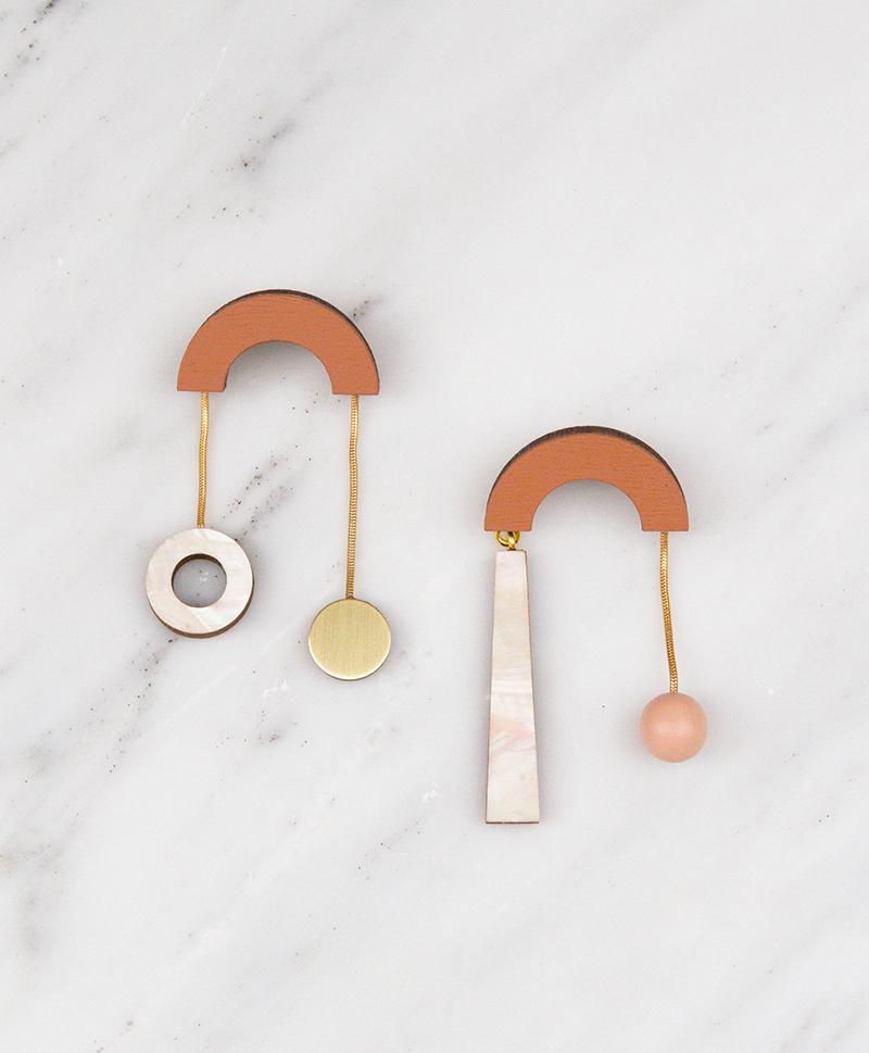 Серьги Cascade Earrings Burnt Orange