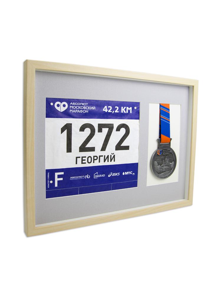 Рамка для медали и номера (береза)