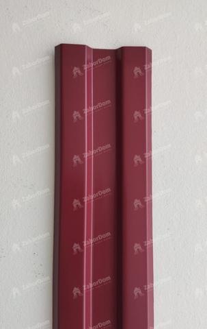 Евроштакетник металлический 80 мм RAL 3005 W-образный 0.45 мм