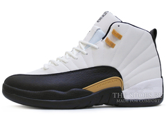 Кроссовки Мужские Air Jordan 12 Retro Jumpmen Black White Gold