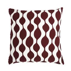 Чехол для подушки Traffic бордового цвета Cuts&Pieces 45х45 Tkano