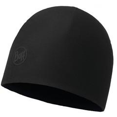 Элитная флисовая шапка BUFF® Microfiber & Polar Hat solid black