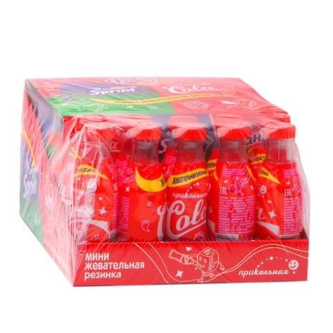 Мини жевательная резинка в бутылочках. Ассорти 1кор*12бл*30шт 7 гр.