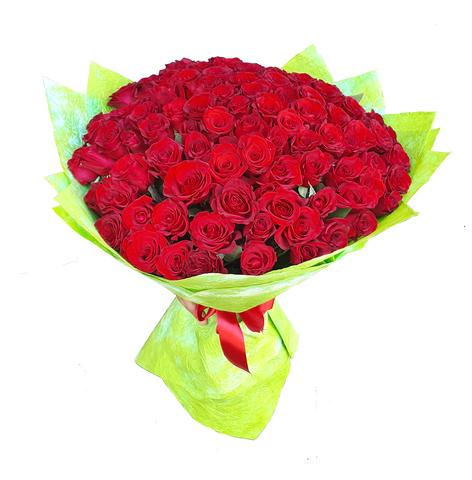 Букет из 101 розы (Бордо) 3
