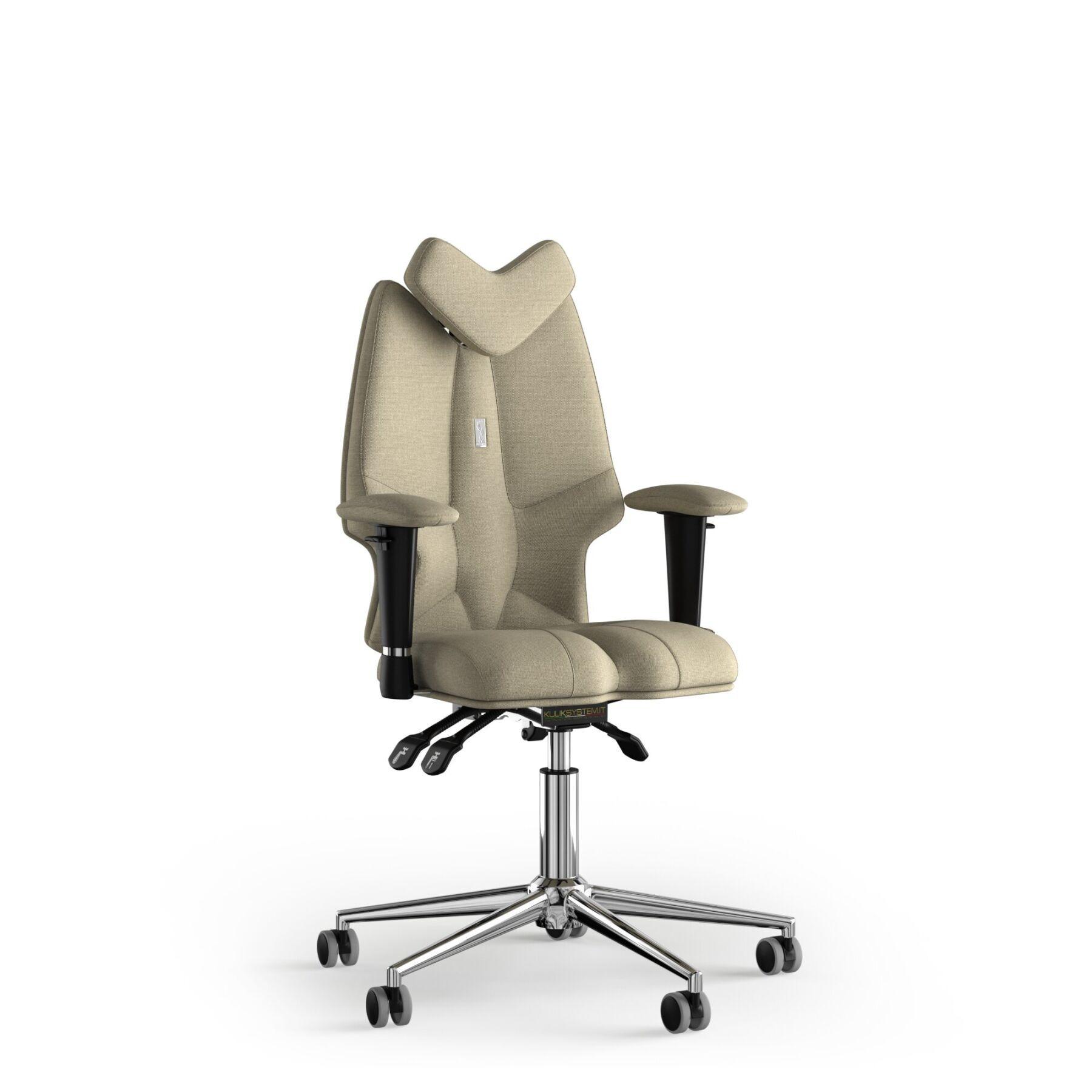 Кресло KULIK SYSTEM FLY Ткань с подголовником без строчки