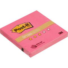 Стикеры Z-сложения Post-it 76х76 мм неоновые розовые для диспенсера (1 блок, 100 листов)