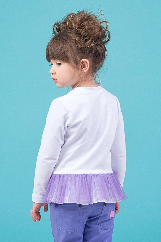 Свитшот белый для девочки 44-9002-1