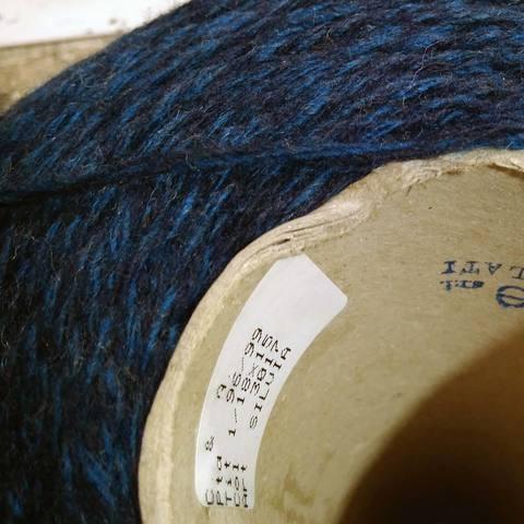 Смесовка шерсть с акрилом FILTIME сине-черное мулине