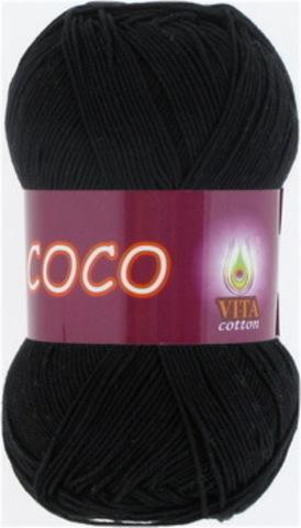 Пряжа Coco (Vita cotton) 3852 Черный
