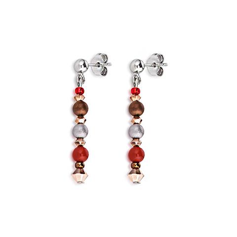 Серьги Coeur de Lion 4879/21-0300 цвет красный, коричневый
