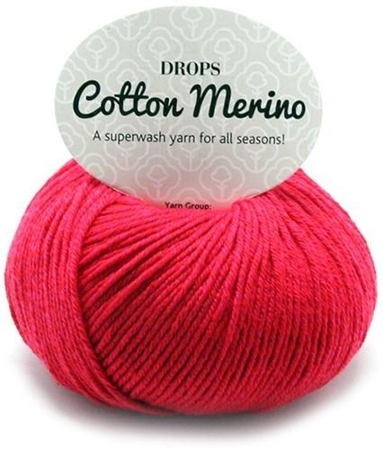 Пряжа Drops Cotton Merino 06 красный