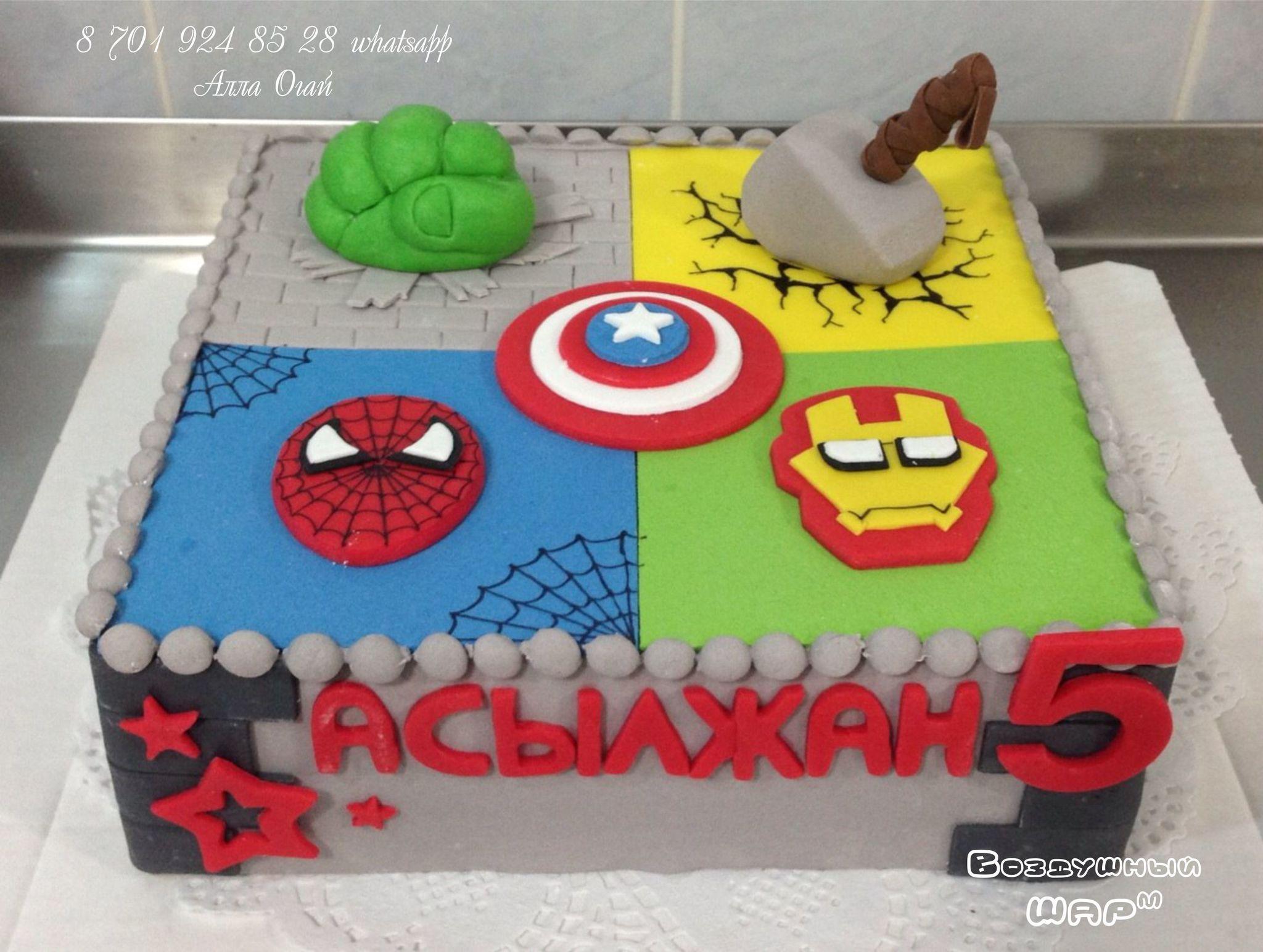 торт супергерои Алматы