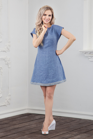 Платье льняное Ангара