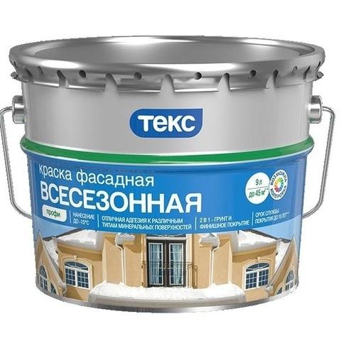 Текс Профи краска фасадная, всесезонная, зимняя