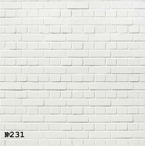 Фотофон виниловый «Бежевая кирпичная стена» №231