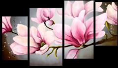 "Модульная картина ""Нежные цветы"""