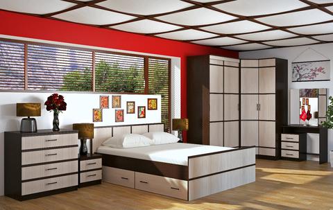 Кровать 1,6м Сакура БТС Венге/лоредо