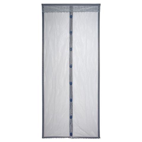 Сетка-штора на дверь противомоскитная с магнитами и крепежом, 45х210 см 2 шт