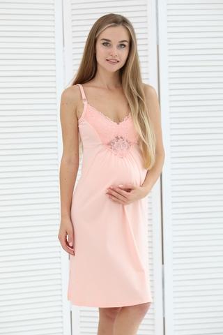 Ночная сорочка для беременных и кормящих 09903 персиковый