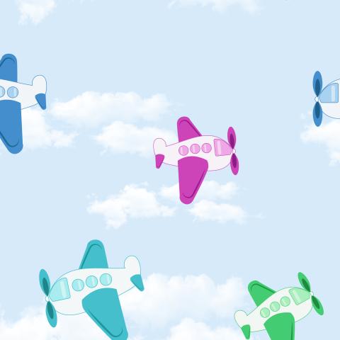 Цветные самолётики