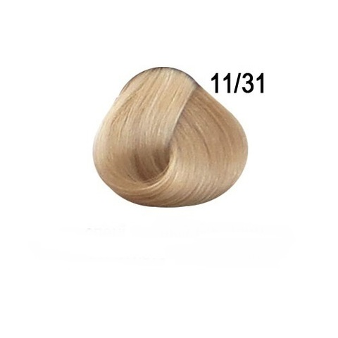 Перманентная крем-краска для волос Ollin 11/31 специальный блондин золотисто пепельный