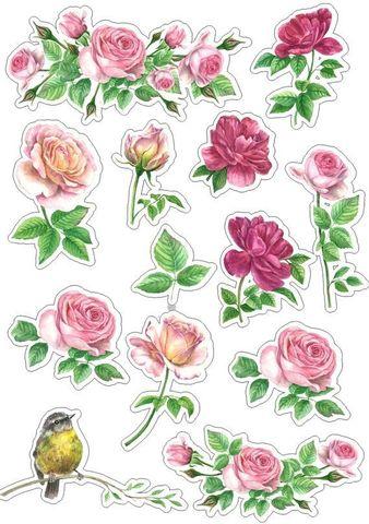 Печать на вафельной бумаге, Набор цветы 5
