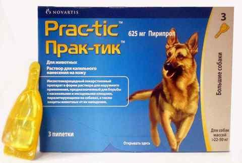 Prac-Tic Капли от блох и клещей для собак 22-50кг (1 штука)