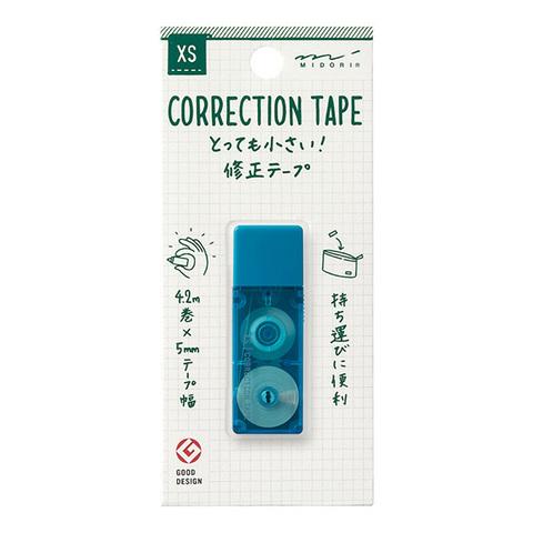 Ленточный штрих-корректор Midori XS Correction Tape (голубой)