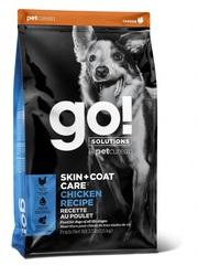 Корм для щенков и собак, GO! SKIN + COAT Chicken Recipe DF, с цельной курицей, фруктами и овощами