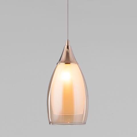 Подвесной светильник со стеклянным плафоном 50085/1 золото