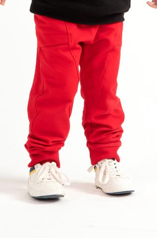 Джоггеры с боковыми карманами Anlikids  цвет красный (Н)