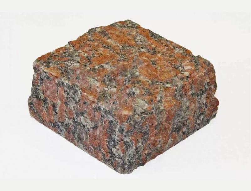 Капустинский гранит (брусчатка образец)