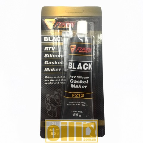 Fusion F212 RTV SILICONE GASKET MAKER BLACK 85г