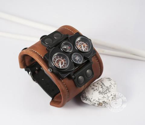 WLS142 Браслет для  часов со шнуром по краю с двумя классическими застежками