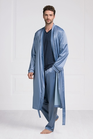Мужской шелковый халат 60395 Laete