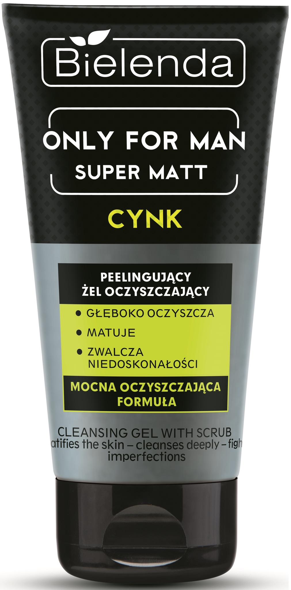 BIELENDA ONLY FOR MEN Очищающий гель-пилинг SUPER MAT 150г