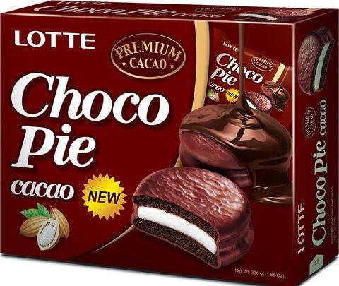 """Печенье """"LOTTE"""" Choco Pie Какао 12шт"""