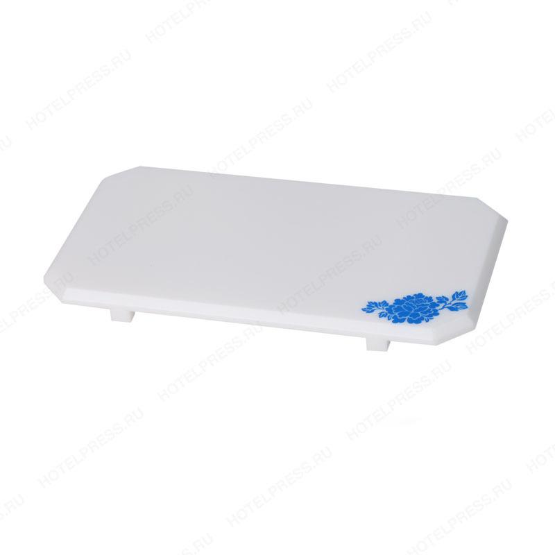 Белый акриловый набор с синим цветком для гостиничных номеров