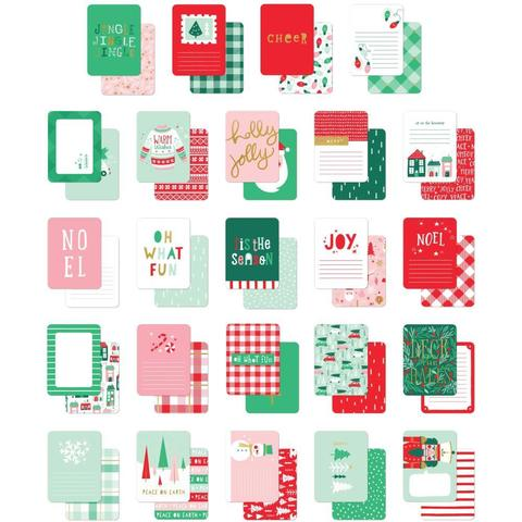 Карточки для Project life -Holly Jolly Double-Sided Journal Cards 24шт