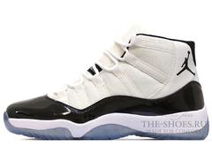 Кроссовки Мужские Nike Air Jordan XI Retro White Top Black