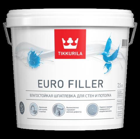 Tikkurila Euro Filler/Тиккурила Евро Филлер влагостойкая шпатлевка для стен и потолков