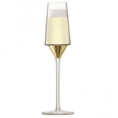 Набор из 2 бокалов-флейт для шампанского Space, 210 мл, золото, фото 3
