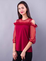 Жанна. Весенняя молодежная блуза. Бордо